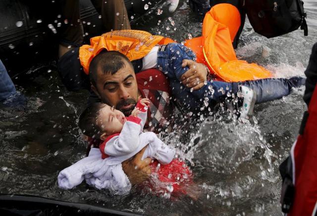 De Turquía a Grecia. Inmigrante sirio. Mar Egeo