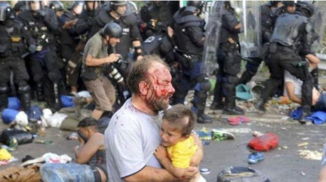 Migrantes en Hungría sufren la acción policial