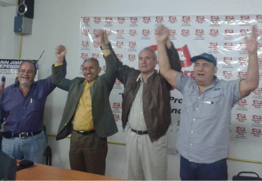 Pablo Medina junto con Marco Torres, Pedro Véliz y Luis Fuenmayor Toro