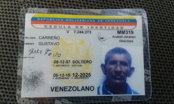Cédula de identidad emitida el mismo día de las elecciones.