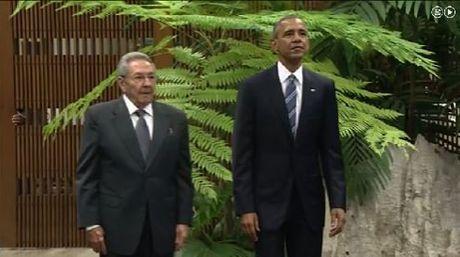 Raúl Castro recibe a Barack Obama, Presidente de EEUU