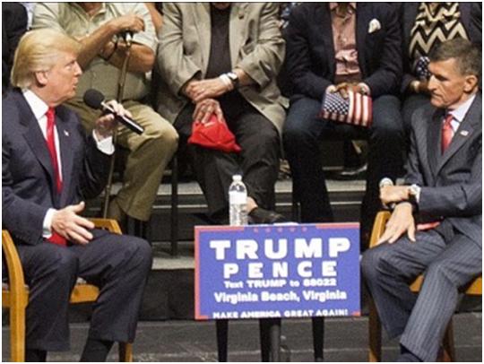 Donald Trump con el general Michael T. Flynn